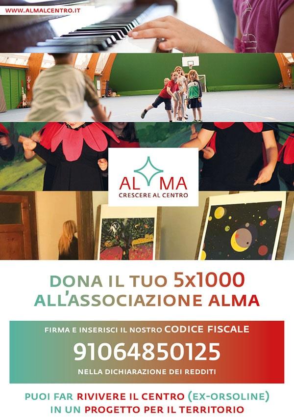 Dona il tuo 5x1000 Associazione Alma